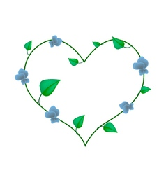 Winged bean plants in a heart shape vector
