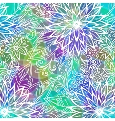 Background with Floral Pattern vector image
