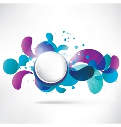Abstract background with speech bubble vector image