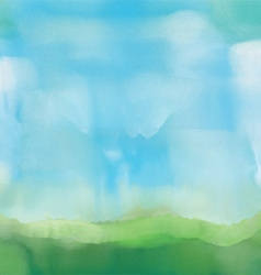 Abstract watercolor landscape vector