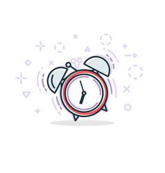 alarm clock line vector image vector image