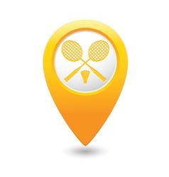 Badminton map pointer yellow vector
