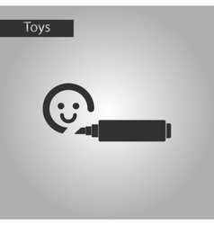 Black and white style toy felt-tip marker vector