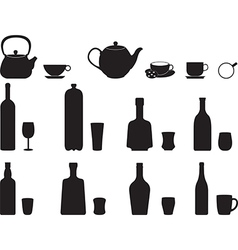 Bottles with specific glasses vector
