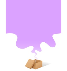fumes coming from box vector image vector image