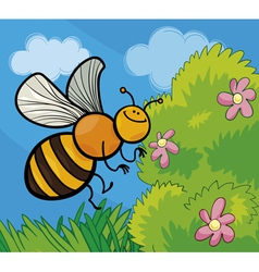 honey bee cartoon vector image vector image
