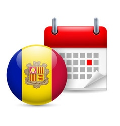 Icon of national day in andorra vector