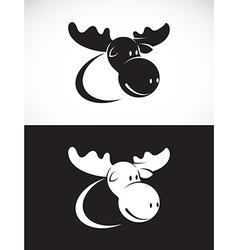 image of moose design vector image vector image