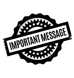 Important message rubber stamp vector