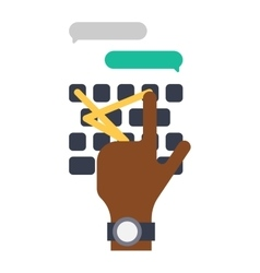 Keyboard hands vector image