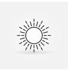 Linear sun logo vector image vector image