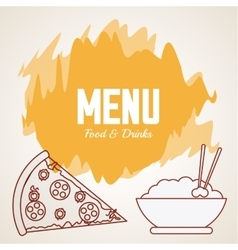 Menu icons design vector