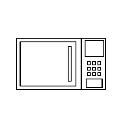 Microwave kitchen appliance vector image vector image