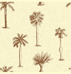 palm tree leaf seamless pattern vector image vector image