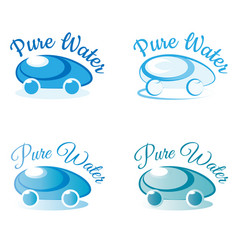 pure water logo for company water delivery vector image vector image