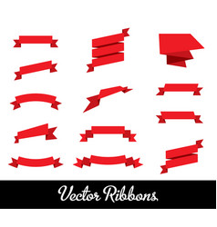ribbons set collection vector image vector image