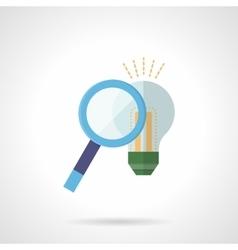 Search idea concept flat color icon vector