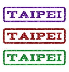 Taipei watermark stamp vector
