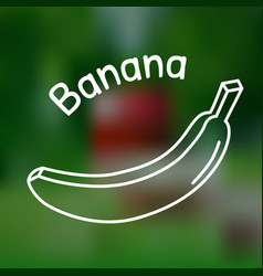 thin line banana icon vector image vector image