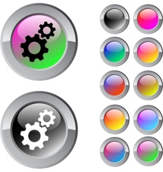 Tools multicolor round button vector image
