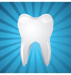 Tooth on blue background vector image