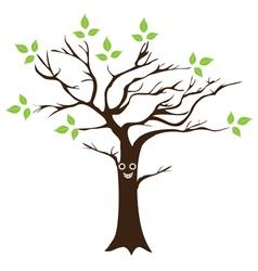Tree smile eco vector