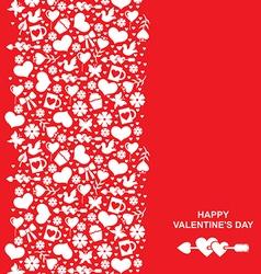 valentine element vector image vector image