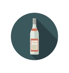 Vodka icon in flat style vector image