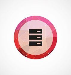 web server circle pink triangle background icon vector image