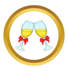 Wedding glasses icon vector image vector image