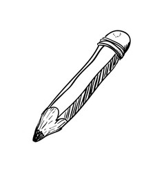 wooden pencil draw vector image