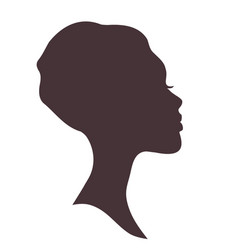 young woman head silhouette vector image vector image