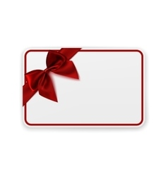 White blank gift card template vector image
