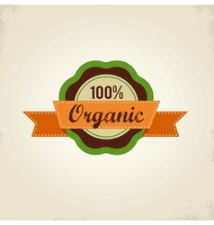 Organic food label tag and graphi element vector