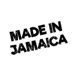 Made in jamaica rubber stamp vector