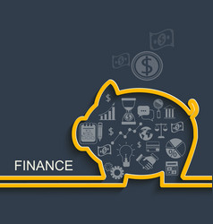 Finance and business concept vector