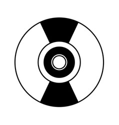 Compact disk isolated icon vector