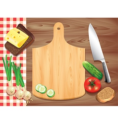 Kitchen board background vector