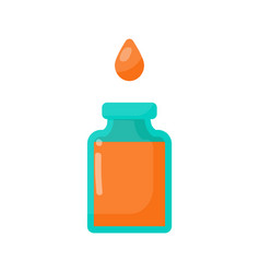 Bottle of poison and drop flat icon vector