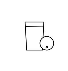 Blueberry juice icon vector