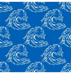 Seamless pattern of a curling waves vector
