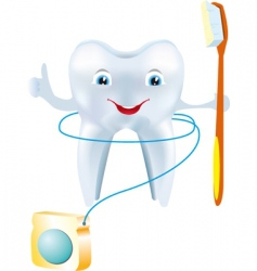 Tooth floss vector