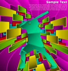Abstract sport design vector