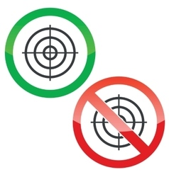 Aim permission signs set vector