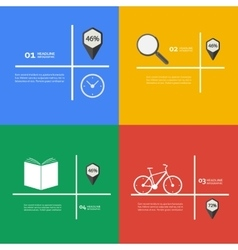 Items for infographics bike book clock vector