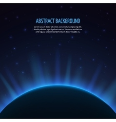 Abstract space background with planet and vector image