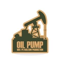 Industry design oil pump icon factory concept vector