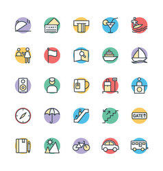 Travel cool icons 3 vector