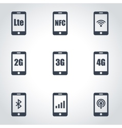 3g 4g and lte technology vector