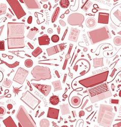 Seamless education pattern vector